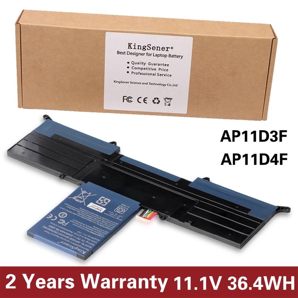 KingSener Nouveau AP11D3F Batterie Pour Acer Aspire S3 S3-951 S3-391 MS2346 AP11D3F AP11D4F 3ICP5/65/88 3ICP5/ 67/90 11.1 v 3280 mah