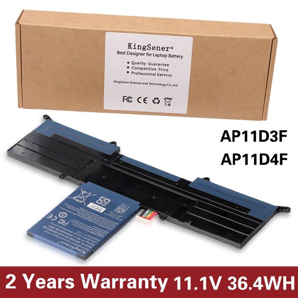 Kingsener Новый ap11d3f Батарея для Acer Aspire S3 S3-951 S3-391 ms2346 ap11d3f AP11D4F 3icp5/65/88 3icp5/ 67/90 11.1 В 3280 мАч ...