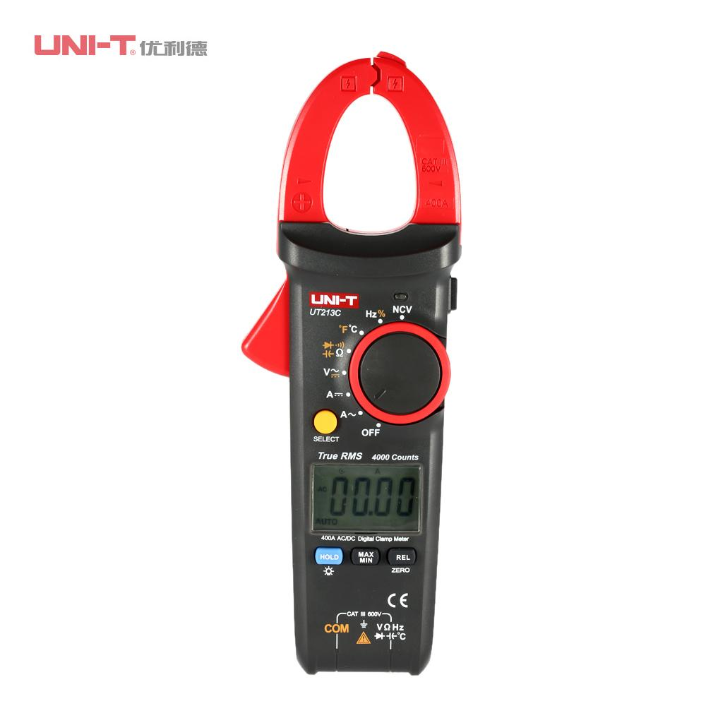 Digital Clamp Meter Professional Multimeter AC/DC Voltage Current Resistance Capacitance Diode Continuity NCV Temperature Tester digital clamp meter multimeter dc ac voltage current resistance diode continuity tester 33mm jaw opening