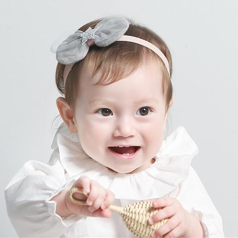 Toddler Girl Kid Baby Big Bow Hairband Headband Stretch Turban Knot Head Wrap WL