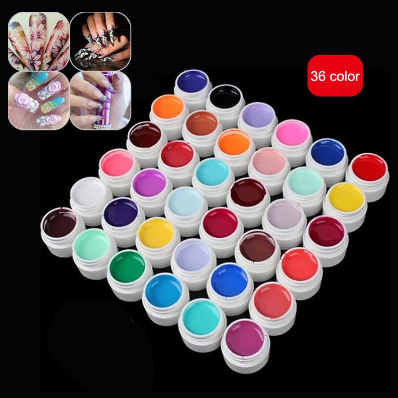 36 Colors/ Set Nail Painting Gel UV Gel Kit Nail Art Salon