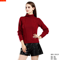 VA 2017 fall winter new fashion women's High Quality 100% cashmere turtleneck knitted sweater females pullover black red grey