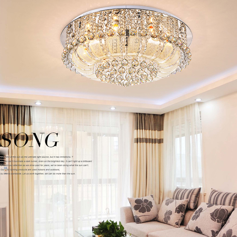 Creative Creative LED קריסטל תקרה מנורת הכניסה הכניסה ליגטס הול מנורת מנורה עם 3w LED LED K9 קריסטל אורות התקרה