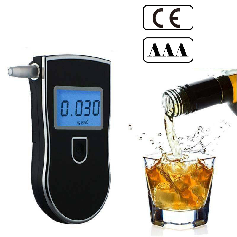 Breath Alcohol Tester AT-818 Breathalyzer Detector Professional Police Digital At818 Professional At 818 2019 Hot Sale Detector(China)