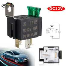 New Fused On/Off Car Motor Automotive Fused Relay DC 12V 30A 4 Pin 4P SPST Metal(China)