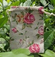 Rose Linen Quà Tặng Pouch 13x17 cm (5