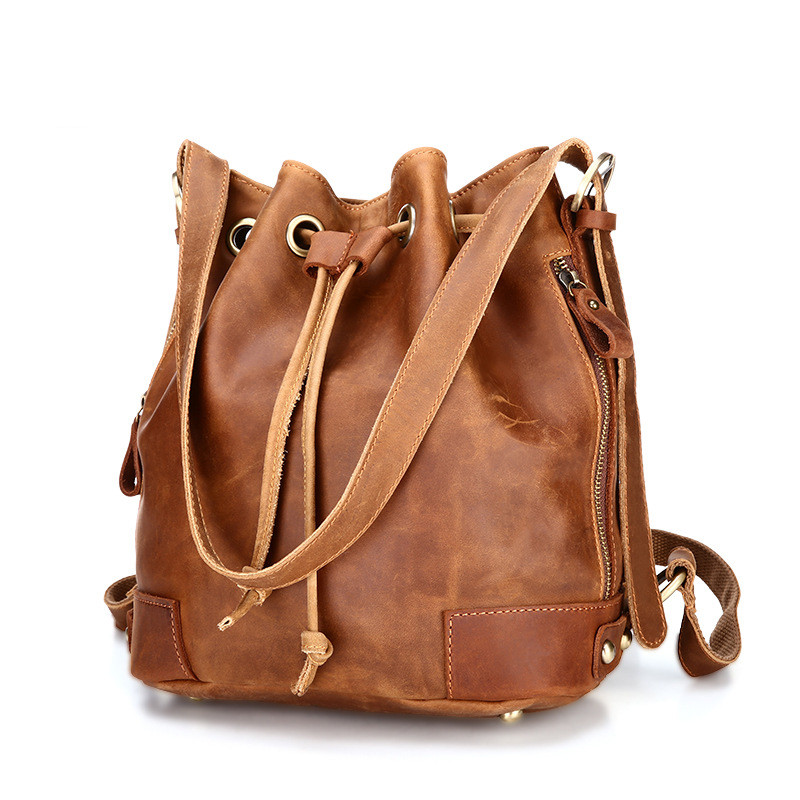 Women's backpack leather suede leather bag