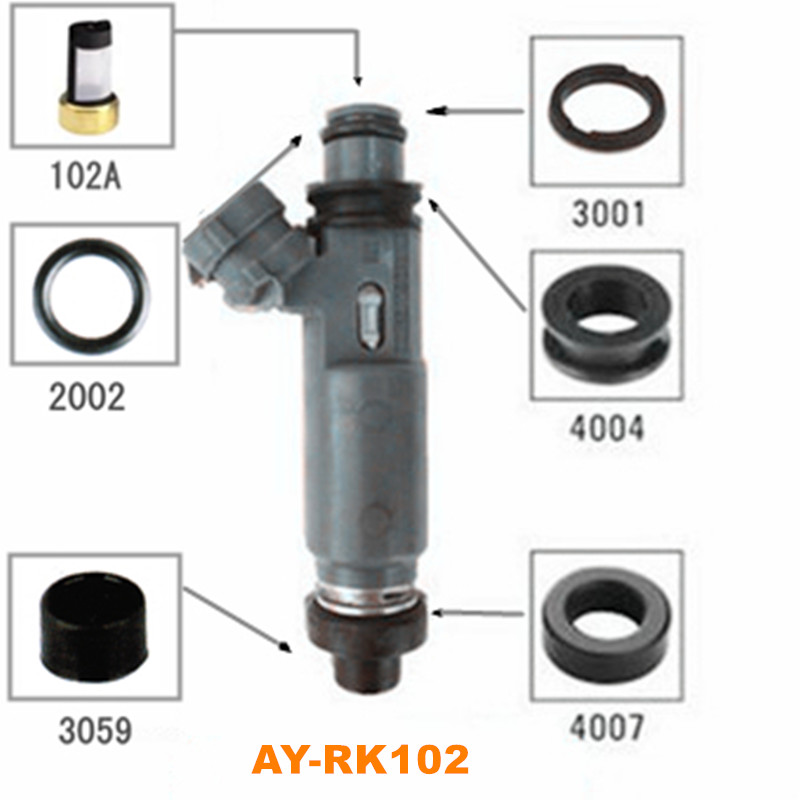40pieces/sets fuel injector repair kits for Mazda Familia 323 FP 1.6 nozzle for OEM MD332733 195500-3170 ( AY-RK102)40pieces/sets fuel injector repair kits for Mazda Familia 323 FP 1.6 nozzle for OEM MD332733 195500-3170 ( AY-RK102)
