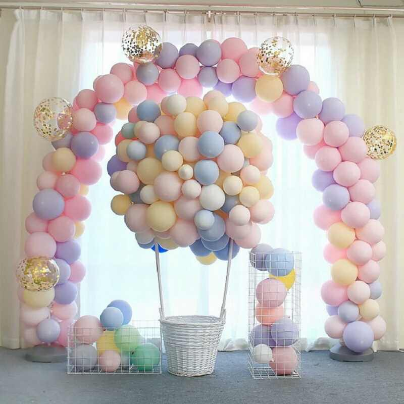 30 шт. разноцветные воздушные шары Макарон на свадьбу, день рождения, 2,2 г, розовый Мятный розовый воздушный Гелий Латекс, детский декоративный для Бэйби шауэра, девочки 2019