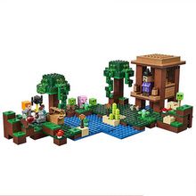 Minecraft The Witch Hut Alex Pig Slimes 21133 LegoINGlys 828 DIY Model Building Block Set Kids Brick Toy festival gift