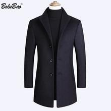 BOLUBAO мужские шерстяные пальто осень зима новые мужские однотонные повседневные шерстяные пальто длинное шерстяное пальто мужские топы