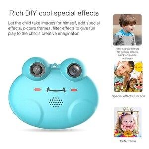 Image 2 - K5 Digital Camera Hd ChildrenS Cartoon Anti Fall Little Frog Camera (Blue)