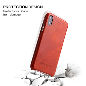 Image 5 - For iPhone X XR Genuine Leather Phone Case Slim Cowhide Cover Business Real Leather Magnetic Smart Cover for Apple iPhone XS Max