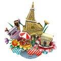 OC3204 Франция Париж Городской Пейзаж Ручной Головоломки 3D Игрушки, Cubicfun 3D Головоломки DIY Картона Модель Игрушки Для Детей Рождество Подарок