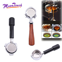 Stainless Steel Coffee Portafilter for San Marco 54MM Bottomless Filter Holder Wooden Handle Profession Accessories Barista Tool