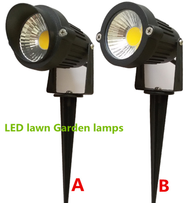 10pcs Bright 110v 220v 12V 3W COB LED Lawn Lamps Light IP65 Waterproof Landscape Outdoor Lights Garden Path Pond Light Warranty