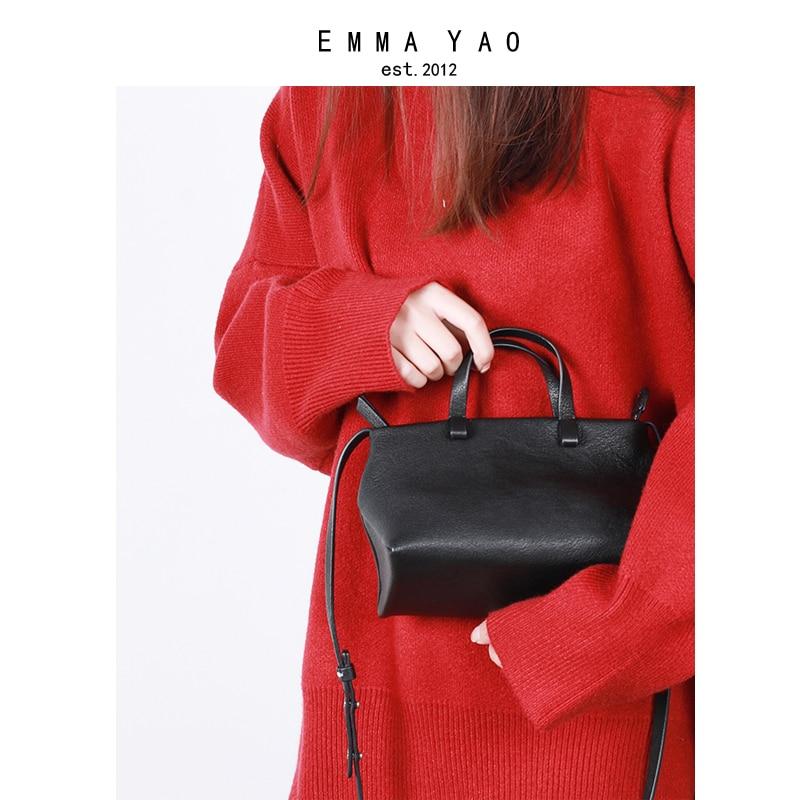 EMMA YAO women bag leather crossbody bag fashion korean tote bag brand shoulder bagsEMMA YAO women bag leather crossbody bag fashion korean tote bag brand shoulder bags
