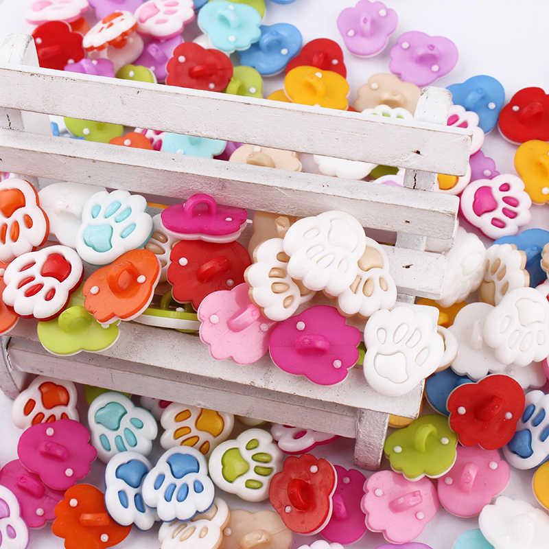 100 sztuk 1 otwory okrągłe przyciski plastikowe mieszane malowane projekt dekoracji akcesoria odzieżowe guziki
