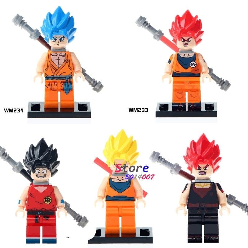 50pcs super heroes marvel Dragon Ball Z Goku Son Vegeta Roshi building blocks bricks friends hobby