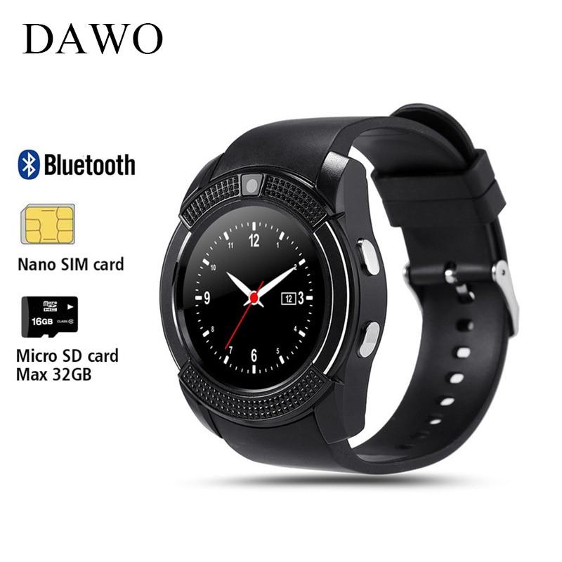 DAWO V8 Smart Uhr Fitness Tracker Schlaf Tracker Whatsapp Facebook Fernbedienung Smartwatch Für IOS Android PK GTO8 DZ09 Y1