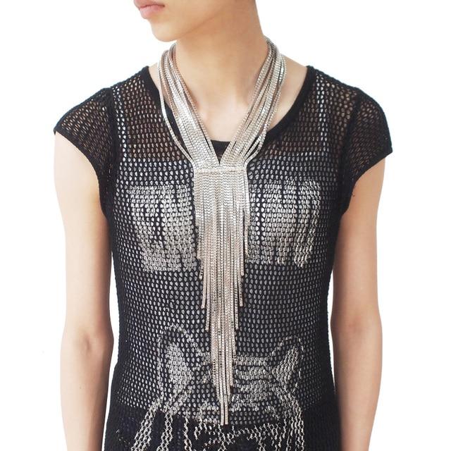 5a92e784c096 UKMOC nueva moda de aleación de diamantes de imitación Collar de la cadena  de las mujeres vestido de noche ...