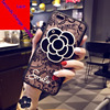 Fashion Camellia Mirror Lace Phone Cases For IPhoneX 7 7 Plus Cute Design Soft Silicone Lanyard