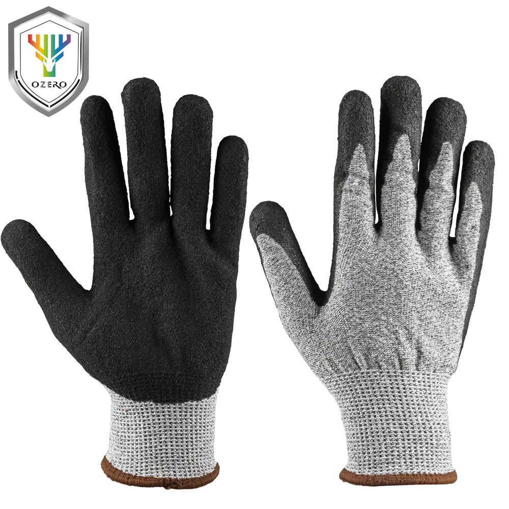 OZERO Work Gloves Cut Resistant Proof Protect Stainless Steel Wire Safety Metal Mesh Butcher Anti Cutting Breathable Gloves 0001 top quality 304l stainless steel mesh knife cut resistant chain mail protective glove for kitchen butcher working safety
