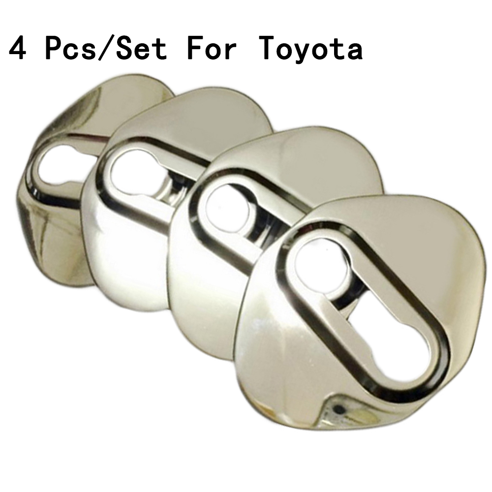 For Toyota Highlander/Levin/Corolla 14-16 Door Lock Stainless Steel New Buckle Cover Interior Decoration Modification