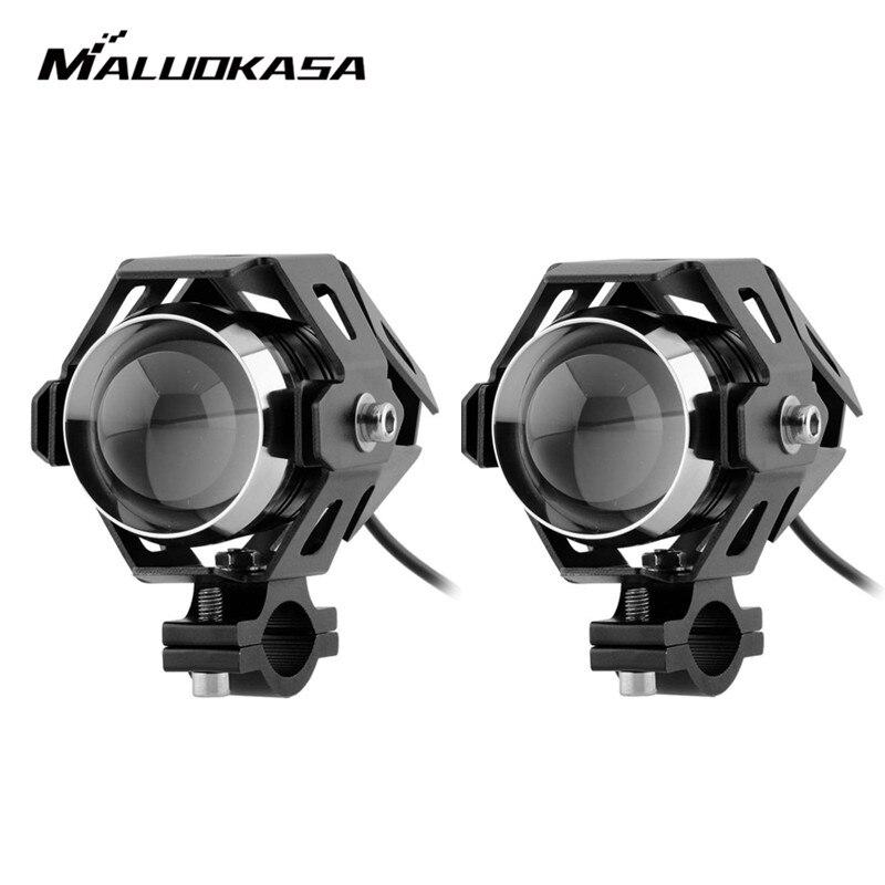 MALUOKASA 1pair 125W 1090LMW U5 Waterproof Motorcycle Headlight Motorbike Transform DC12V 80V LED Driving Fog Spot