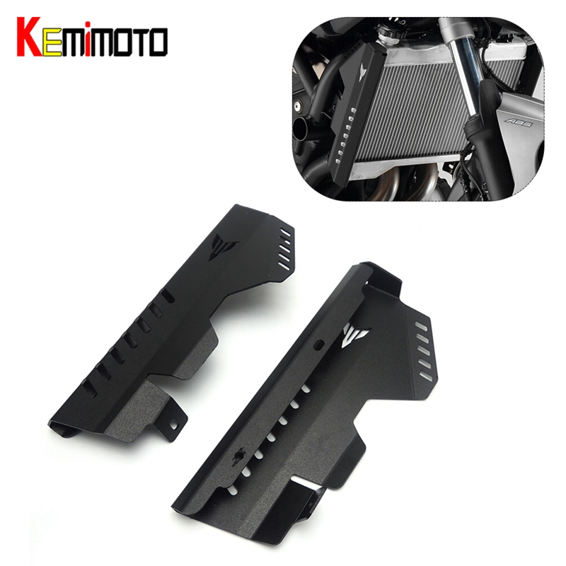 KEMiMOTO Motorcycle Accessories For YAMAHA MT-07 FZ-07 Radiator Grille Side Cover Guard Protector MT07 MT 07 2014 2015 2016 for yamaha mt 07 fz 07 mt07 fz07 2014 2016 motorcycle accessories cnc aluminum engine protector guard cover frame slider blue