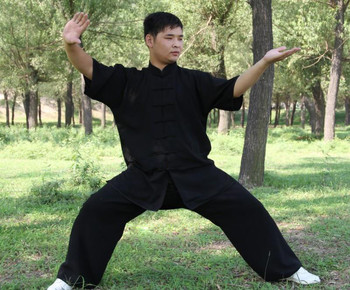 Chinese Kung Fu Tai Chi Uniform Short Sleeves Martial Arts Clothes Comfortable Wushu Suit Morning Exercise Wear