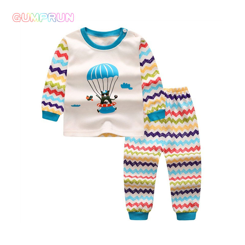 winter baby boy clothes cartoon print boy's clothing long sleeve children clothing set striping print warm kids winter clothes round neck long sleeve 3d coins print sweatshirt
