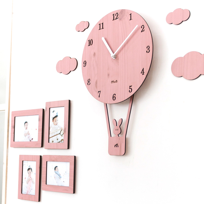 Swing Creative Cartoon Wall Clock Living Room Simple Personality ...