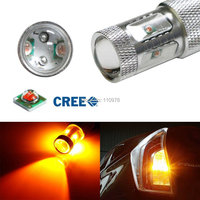 2Pcs Amber No Resistor Required 30W High Power CREE 7440 7444 T20 LED Bulbs For Front