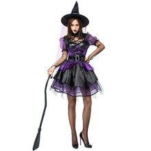 Umorden Gorgeous Amethyst Pentagram Neckline Witch Costume Purple Sequin Dress Halloween Classic Witches Costumes Cosplay