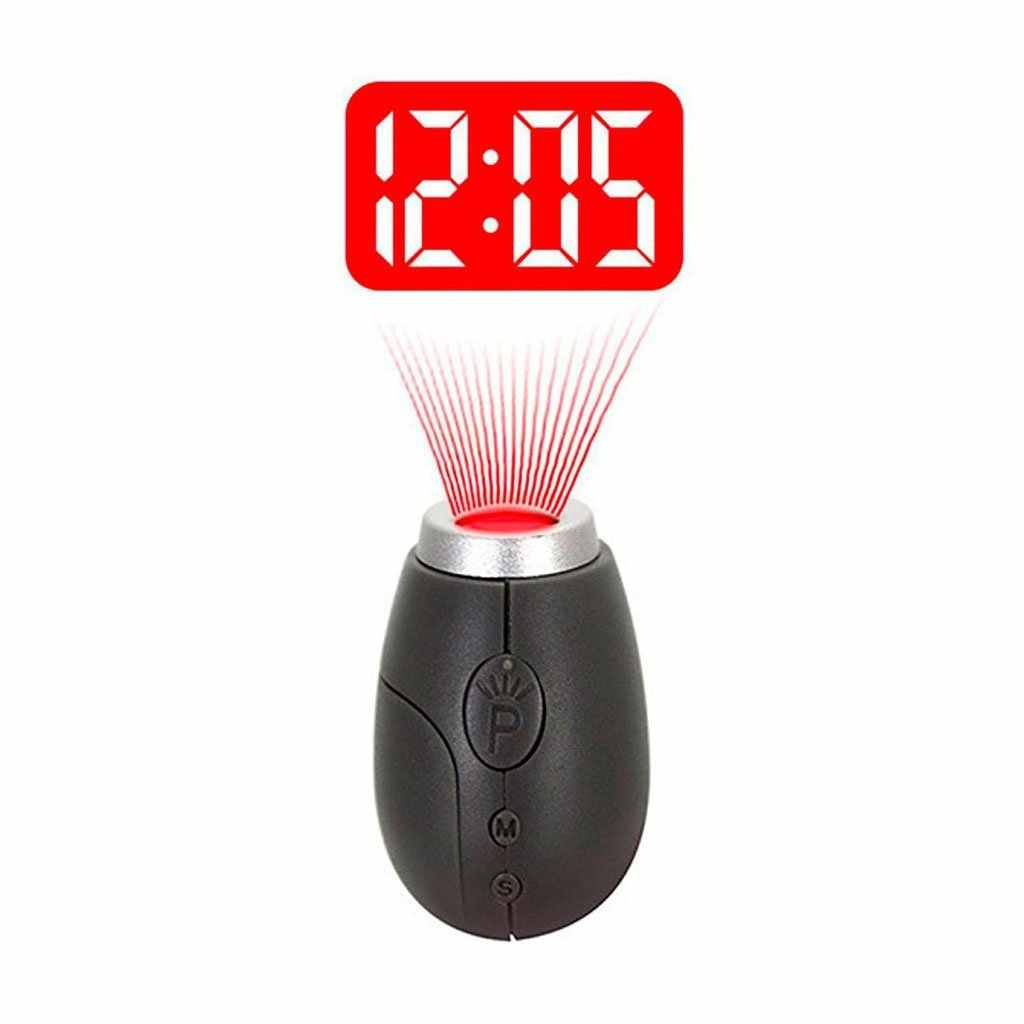 Proyeksi Digital Clock LED Portable Jam Mini Jam dengan Waktu Proyeksi Digital Watch Night Light Magic Projector Jam
