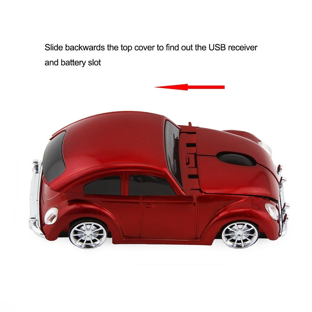 3D Xmas USB optikai vezeték nélküli egér VW Beetle Car Shape - Számítógép-perifériák - Fénykép 2