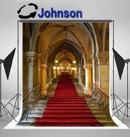 royal cinderella castle gothic red carpet arch column backdrop Vinyl cloth High quality Computer print wall background