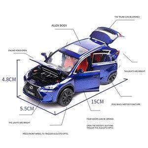 Image 5 - 1/32 לקסוס LX570/NX200t סימולציה צעצוע מכונית מודל סגסוגת למשוך בחזרה ילדי צעצועי אמיתי רישיון אוסף מתנה Off  כביש רכב