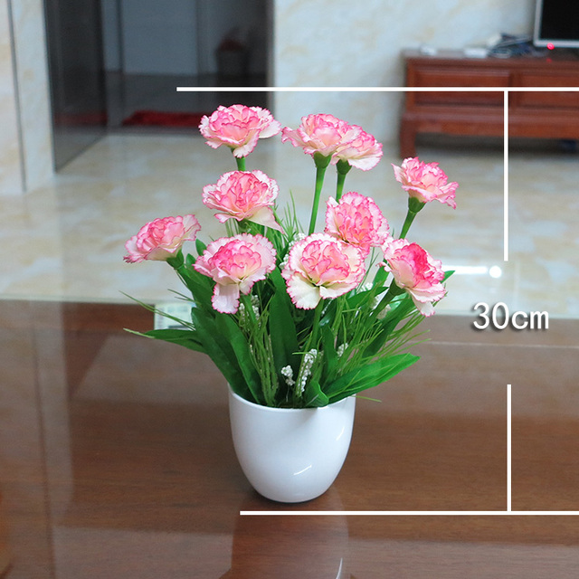 flower carnation flower bouquet plastic flower decoration suite     flower carnation flower bouquet plastic flower decoration suite living room  bedroom decoration gift for mother s Day