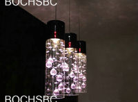 3head Modern Restaurant Living Room Crystal Pendant Parlor Study Glass Lamp Home Lighting Amber Pendant Lamparas