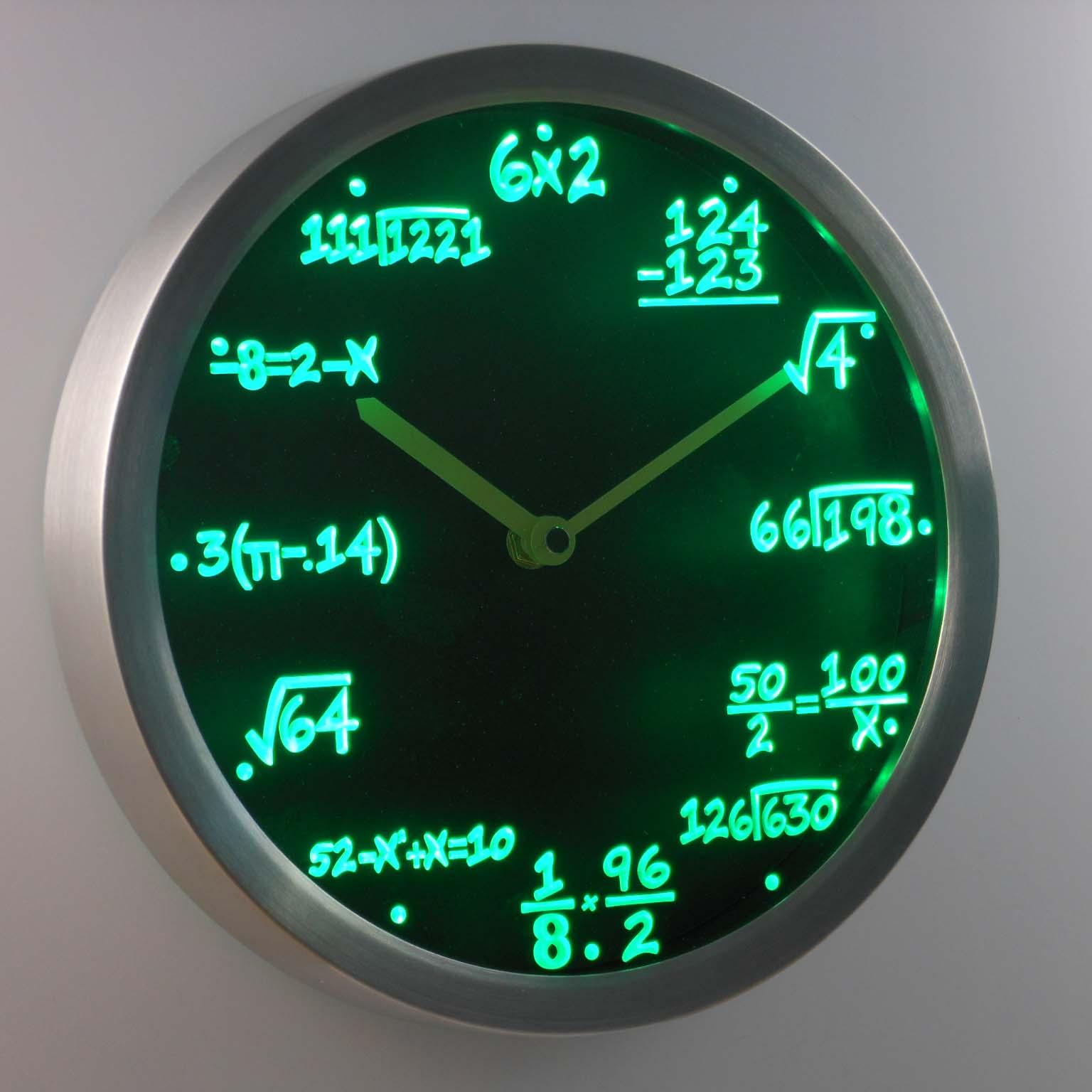 worksheet Clock Math aliexpress com buy nc0461 math class algebra formula mathematics teacher gift neon led wall clock from reliable keyring
