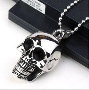 Big and Heavy Stainless Steel Skull Pendant Necklace For Men Fashion Charm Men Jewerly New 2017