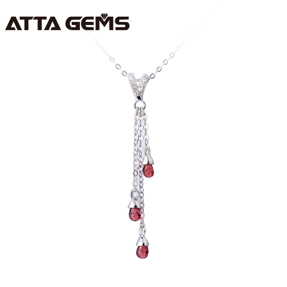 Natural Red Garnet Sterling Silver Pendant Tiny Tear Drop Garnet Professional Cutting And Fashion Design Womens Fine JewelryNatural Red Garnet Sterling Silver Pendant Tiny Tear Drop Garnet Professional Cutting And Fashion Design Womens Fine Jewelry