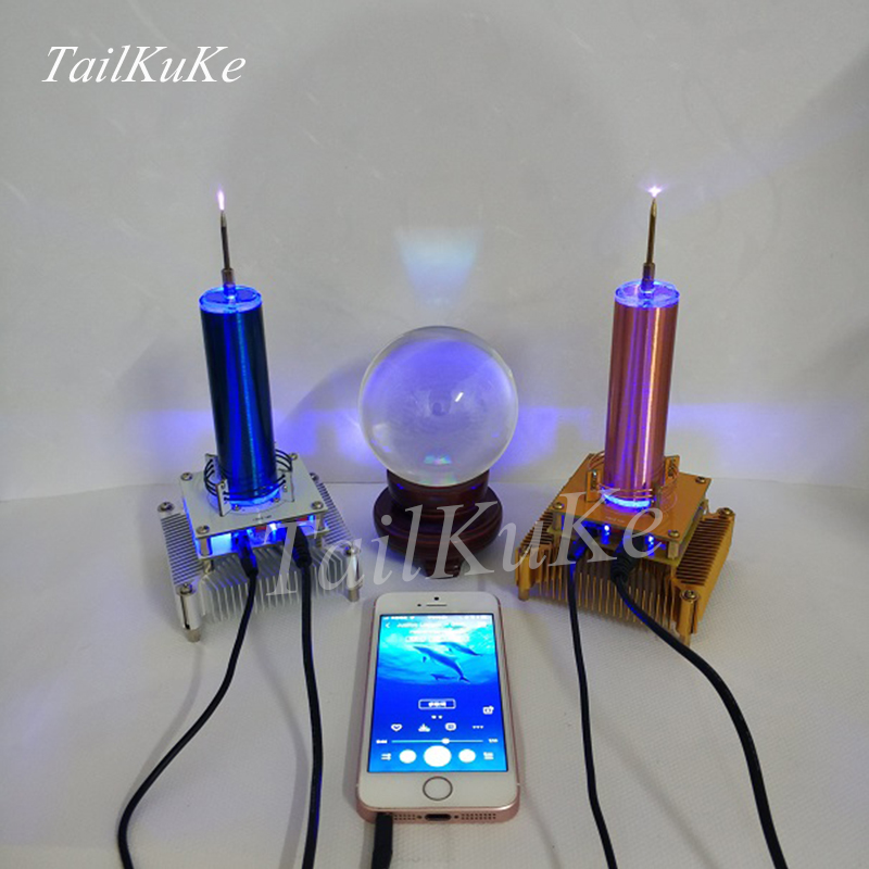 Bobine Tesla mis musique Ion moulin à vent guirlande lumières espacées Radio de Transmission sans fil - 4