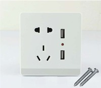 10pcs Dual USB Port Wall Socket Charger DC Power Outlet Plate Panel AU EU US