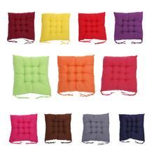 Soft Square Cotton Car Seat Cover Mat Pad Buttock Non slip Strap Home Office Chair Cushion Auto Interior Accessories Decor