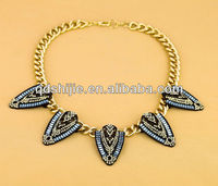 New Arrival 2013 Fashion Jewelry Graceful Rhinestone Feather Pendant Necklace Good Quality