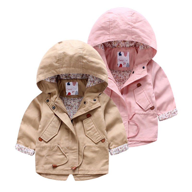 e18c814389c99 Girls Outerwear Jacket 2016 New Design Spring autumn Girls Jackets Coats  Kids Windbreaker Floral Lining Hooded Baby Girl Jacket-in Jackets   Coats  from ...