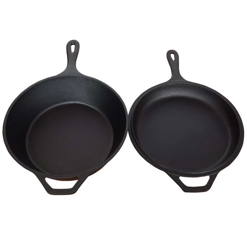 Heavy Raw Cast Iron Dual-Purpose Thickened Non-Stick Frying Pan 4